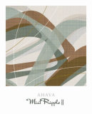 Mint Ripple II Prints by Ahava