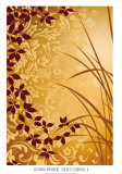Golden Flourish II Affiches par Edward Aparicio