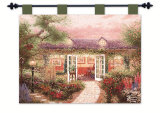 Studio in the Garden Wall Tapestry by Thomas Kinkade