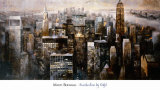 Manhattan by Night Print by Marti Bofarull
