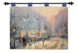Holiday Gathering Wall Tapestry by Thomas Kinkade
