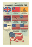 Development of American Flag, Art Print