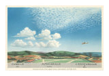 Cumulus, Altocumulus and Cirrocumulus Clouds, Art Print