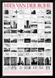 Planned and Unfinished Buildings Prints by Mies Van Der Rohe