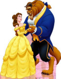 Belle and the Beast Cardboard Cutouts