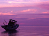 Fishing Boat at Sunset, Bunaken, Sulawesi, Indonesia Lámina fotográfica por Jay Sturdevant