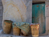 Doorway with Basket of Grapes, Village in Cappadoccia, Turkey Photographic Print by Darrell Gulin