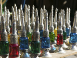 Perfume Bottles, the Souqs of Marrakech, Marrakech, Morocco Photographic Print by Walter Bibikow