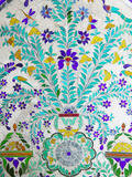 Decorated Tile Painting at City Palace, Udaipur, Rajasthan, India Photographic Print by Keren Su