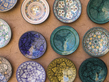 Moroccan Plates, Ensemble Artisanat, Ouarzazate, South of the High Atlas, Morocco Photographic Print by Walter Bibikow