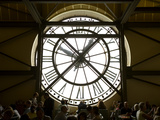 Diners Behind Famous Clocks in the Musee d'Orsay, Paris, France Photographic Print by Jim Zuckerman
