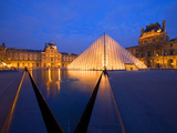 The Louvre Museum at Twilight, Paris, France Photographic Print by Jim Zuckerman