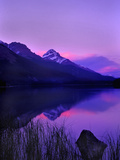 Canada, Alberta, Banff. Sunset along Icefields Parkway Photographic Print by Charles R. Needle
