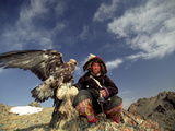 Kook Kook is from Altai Sum, Golden Eagle Festival, Mongolia Photographic Print by Amos Nachoum