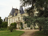 Main Building and Garden of Domaine Du Closel Chateau Des Vaults, France Photographic Print by Per Karlsson