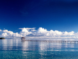 Wooden Jetty Extending off Kadidiri Island, Togian Islands, Sulawesi Photographic Print by Jay Sturdevant