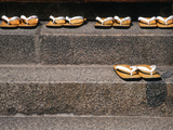 Zori Sandals on Steps of a Shrine, Kyoto, Japan Photographic Print by Nancy & Steve Ross