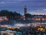 Koutoubia Mosque, Djemma El-Fna Square, Marrakech, Morocco Photographic Print by Walter Bibikow