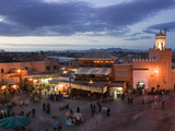 Djemma El-Fna Square, Marrakech, Morocco Photographic Print by Walter Bibikow
