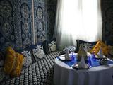 Restaurant at Hotel Kasbah Asmaa, Tafilalt, Rissani, Morocco Photographic Print by Walter Bibikow