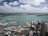 View of Waitemata Harbor from Skytower, Auckland, North Island, New Zealand Photographic Print by David Wall