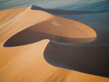 Aerial View of Sand Dunes, Great Red Sand Dunes, Soussevlei, Namibia Photographic Print by Ellen Anon