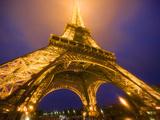 Base of Eiffel Tower at Night, Paris, France Photographic Print by Jim Zuckerman
