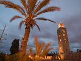 Koutoubia Mosque, Marrakech, Morocco Photographic Print by Walter Bibikow