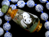 Hand Painted Panda Snuff Bottle, Chinese Bead Necklace, China Fotografisk tryk af Cindy Miller Hopkins