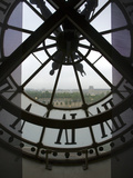 View Across Seine River Through Transparent Face of Clock in the Musee d'Orsay, Paris, France Photographic Print by Jim Zuckerman