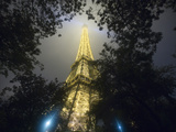 Nighttime View Looking up at Eiffel Tower, Paris, France Photographic Print by Jim Zuckerman
