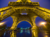 Eiffel Tower Illuminated at Night, Paris, France Photographic Print by Jim Zuckerman