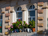 Windows and Flowers in Village, Cappadoccia, Turkey Fotografie-Druck von Darrell Gulin