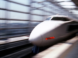 Shinkansen or Bullet Train, Osaka, Japan Photographic Print by Nancy &amp; Steve Ross