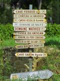 Road Signs to Wine Producers in Chateauneuf-Du-Pape, Provence, France Photographic Print by Per Karlsson