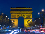 The Arc de Triomphe and the Champs Elysees at Twilight, Paris, France Photographic Print by Jim Zuckerman