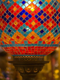 Stained Glass Lamp Vendor in Spice Market, Istanbul, Turkey Photographic Print by Darrell Gulin