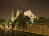 Notre Dame Cathedral at Night, Paris, France Photographic Print by Jim Zuckerman