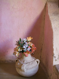 Flowers and Room Detail in Dessert House (Chez Julia), Merzouga, Tafilalt, Morocco Photographic Print by Walter Bibikow