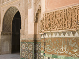 Interior Details, Ali Ben Youssef Madersa Theological College, Marrakech, Morocco Photographic Print by Walter Bibikow