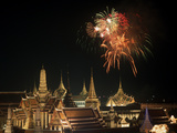 Emerald Palace During Commemoration of King Bumiphol's 50th Anniversary, Thailand Photographic Print by Russell Gordon