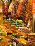Darrell Gulin - Dried Fruit and Spices for Sale, Spice Market, Istanbul, Turkey - Fotografik Baskı