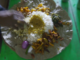 Local Food on Dish, Orissa, India Photographic Print by Keren Su