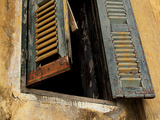 Shutters on Old Building, Kratie, Cambodia Photographic Print by Jay Sturdevant