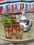 Souvenir Tea Set, Ait Benhaddou, South of the High Atlas, Morocco Photographic Print by Walter Bibikow