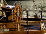 Detail of Sailboat&#39;s Helm, Helsinki, Finland Photographic Print by Nancy &amp; Steve Ross