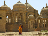 Bada Bagh with Royal Chartist and Finely Carved Ceilings, Jaisalmer, Rajasthan, India Photographic Print by Keren Su