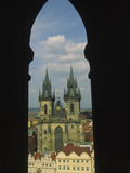 View of Tyn Church in Old Town Square, Prague, Czech Republic Photographic Print by Steve Satushek