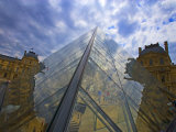 Clouds Reflect off the Louvre Museum, Paris, France Photographic Print by Jim Zuckerman