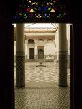Interior Courtyard, Musee De Marrakech, Marrakech, Morocco Photographic Print by Walter Bibikow